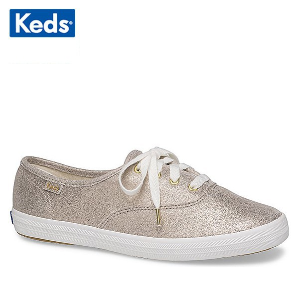 [WH59114] Giày Thể Thao Keds Nữ - Champion Glitter Suede Champagne