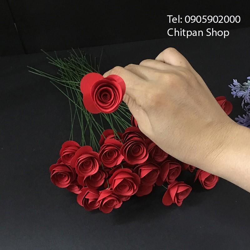 Nhánh hoa hồng giấy 10 nhánh