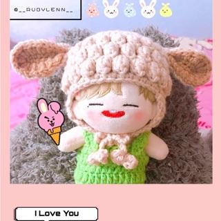 Mũ tai cừu cho doll 15cm, 20cm (NOTE MÀU GIÚP T Ạ)