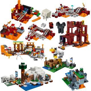 Lego Minecraft series Interest manually building blocks Puzzle Children building block toy my world