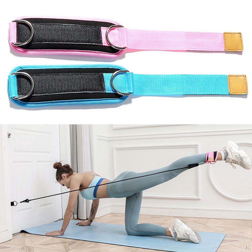 Door Elastic Ankle Strap Gym Sports Shaped Fitness Pull Rope Exercise Latex Resistance Bands Set