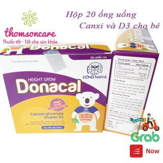 Donacal bổ sung Canxi và vitamin D3 cho bé - Dạng ống siro đã chia sẵn liều liện lợi cho trẻ thumbnail