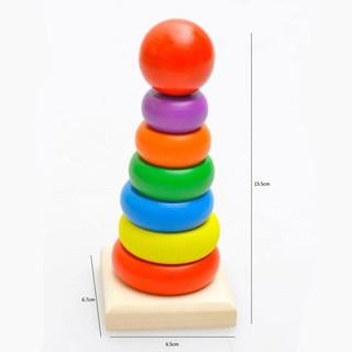 Tháp chồng vòng tròn size nhỏ, đồ chơi giáo dục