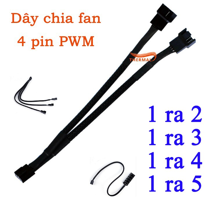 Dây chia fan 4pin các loại - Mở rộng chân cắm quạt fan case, dây bọc lưới