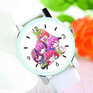 Đồng hồ đeo tay nam nữ in hình Gotoubun no Hanayome NHÀ CÓ NĂM NÀNG DÂU anime chibi thời trang dễ thương thumbnail