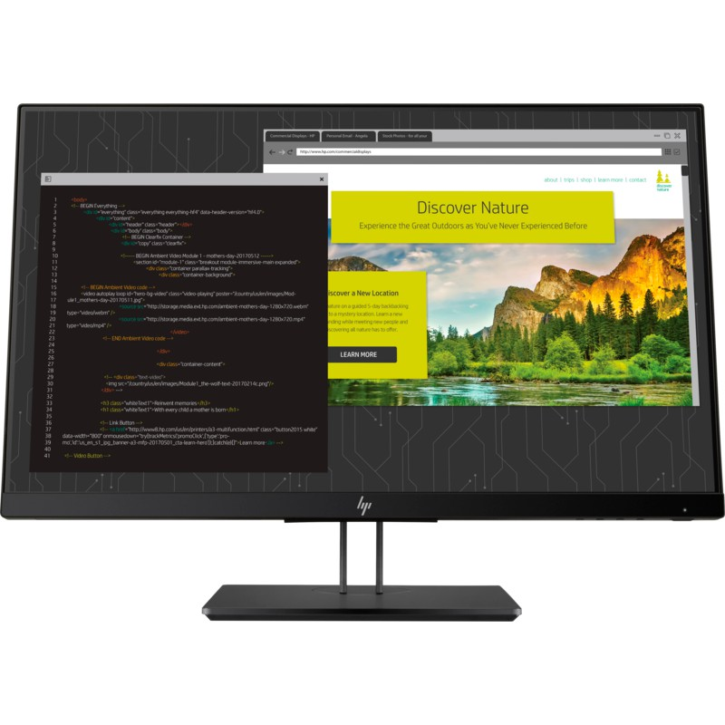 Màn hình máy tính HP Z24nf G2 23.8 inch (1JS07A4) - Hàng Chính Hãng