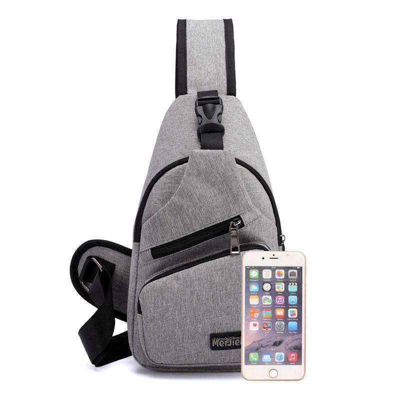 Túi đeo chéo nam nữ túi đeo thời trang có sạc điện thoại tiện dụng TDCN08 TT&GĐ