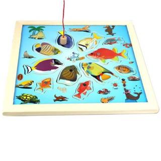 Đồ chơi gỗ cho bé- bảng câu cá đại dương 2 cần