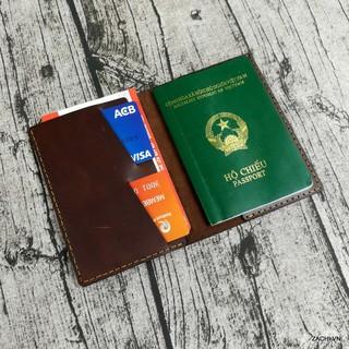 Passport cover, Ví đựng passport da bò, bao da đựng hộ chiếu da thật 100% thumbnail