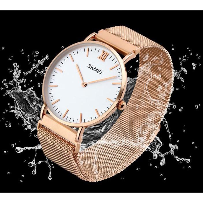 [Tặng vòng tay] Đồng hồ nam SKMEI chính hãng SK1319 fullbox, dây đeo hợp kim cao cấp