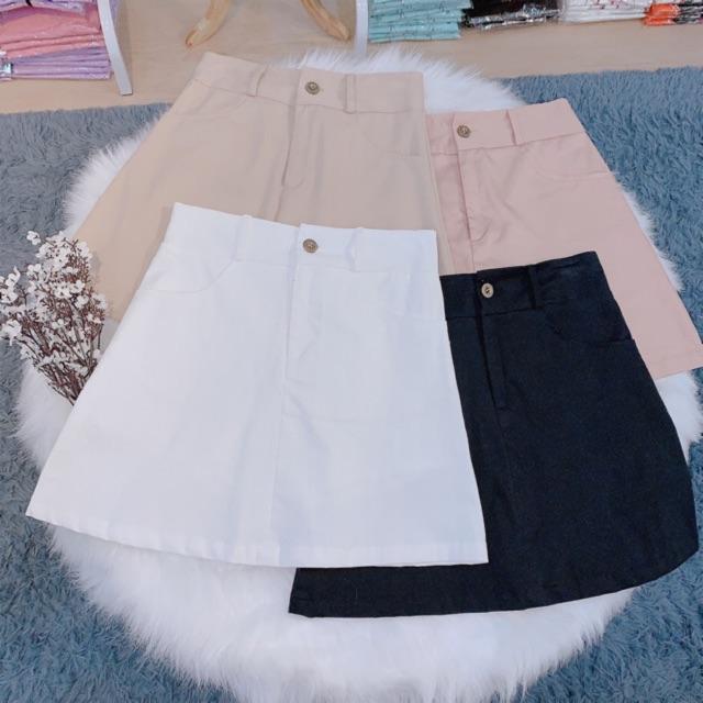 Basic Skirt ( Váy chữ A có túi)