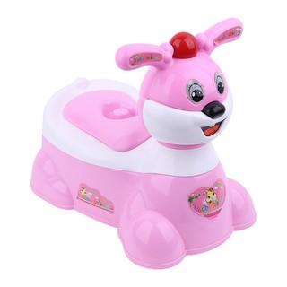 Bô vệ sinh có nhạc hình thỏ cho bé songlong