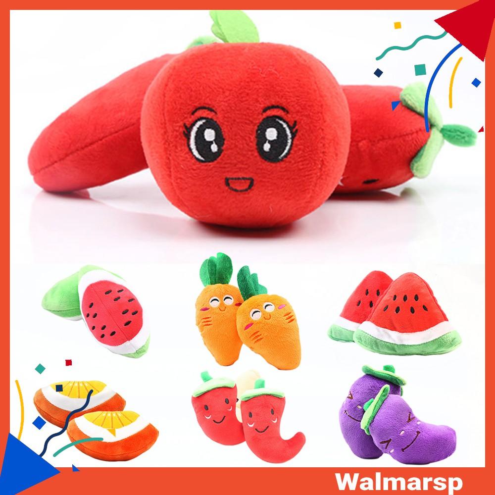 Đồ chơi nhồi bông hình trái cây dễ thương cho thú cưng