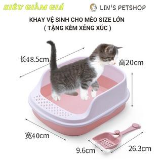 sale upto70%[sale toàn shop upto 70%] Khay vệ sinh cho thú cưng Size LỚN- tặng kèm xẻng thumbnail