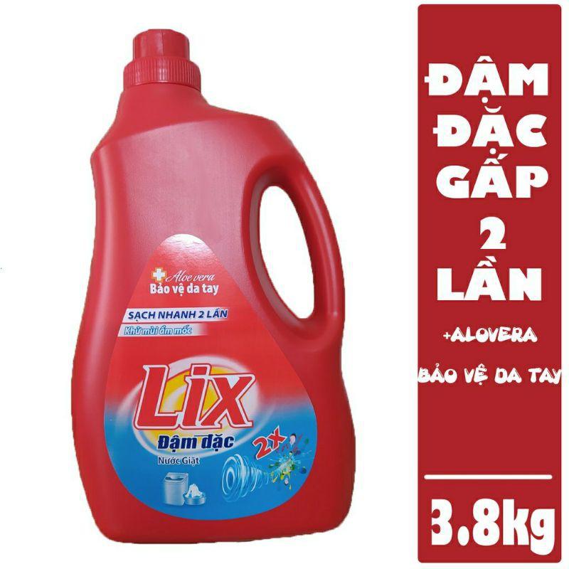 Nước giặt Lix Đậm đặc 3.8kg