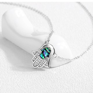 Korean trend jewelry pendant Fatima hand necklace copper plated micro-inlaid zircon ladies necklace