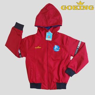 Áo khoác trẻ em Goking cho bé trai và bé gái, vải dù chống nắng, đi mưa, cản gió tốt