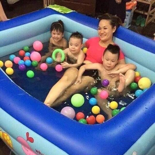 Sỉ bể bơi 3 tầng 1 rộng 1m8 cho bé vui nghịch