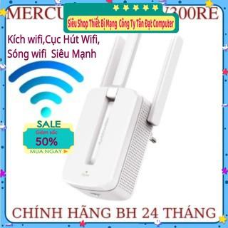 Bộ kích sóng wifi Mercusys MW300re 3 râu cực mạnh,Kich wifi,cục hút wifi,kích sóng wifi hàng HÀNG MỚI 2021
