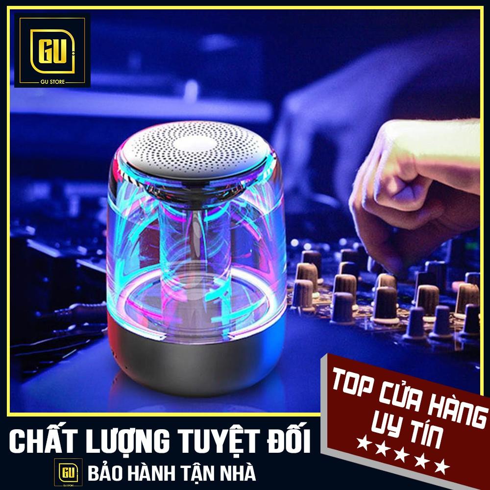 ✔️✔️ RẺ VÔ ĐỊCH ✔️✔️ Loa Blutooth mini Trên Dưới Trong Suốt Yayusi C7 âm thành vòm 6D âm bass trầm led RGB 1000mAh