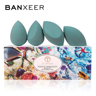 Bộ 4 mút xốp tán phấn nền BANXEER 3 màu 65g thumbnail