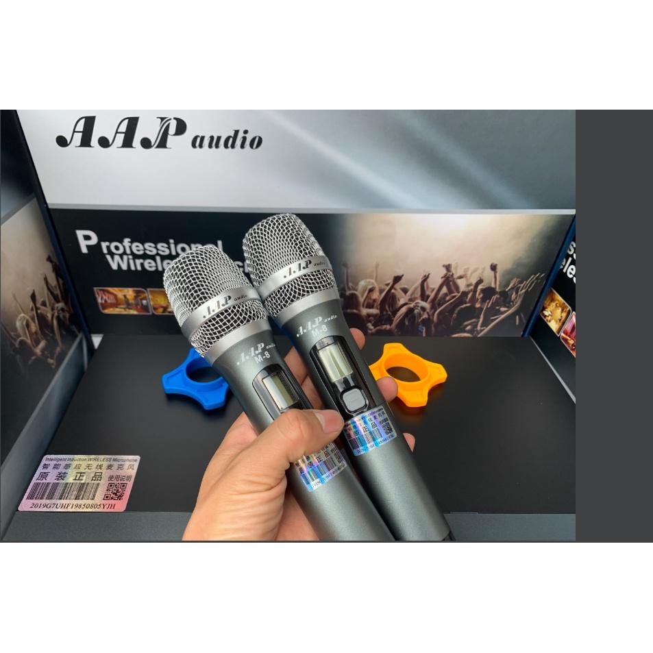 micro không dây cao cấp M8 chất âm hay hát nhẹ hút micro