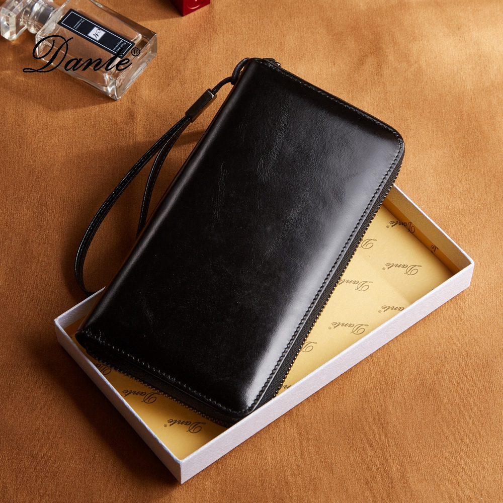 Men's Wallet Hot Sale Long Wallet First Layer Cowhide Bag