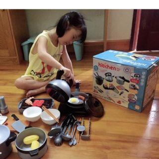 ComboBộ đồ chơi nhà bếp 36 chi tiết và 5 quyển tô chữ