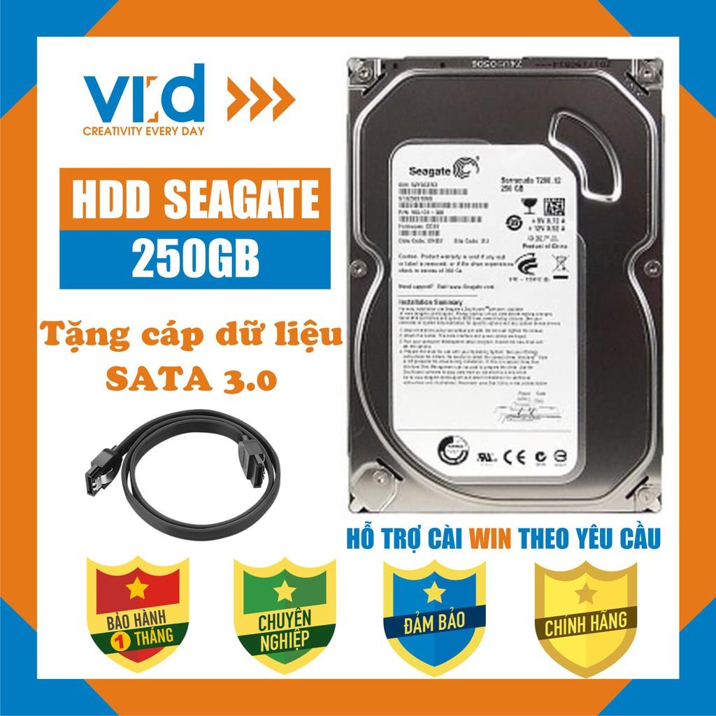 Ổ cứng HDD 250GB Seagate - Tặng cáp Sata 3.0 - Hàng tháo máy đồng bộ nhập khẩu mới 99% Bảo hành 1 tháng