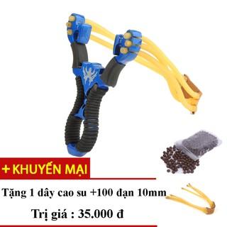 Ná ( Súng ) Cao Su Siêu Chuẩn Siêu Rẻ (Xanh) + Tặng 1 dây chung, 100 viên đạn 10mm