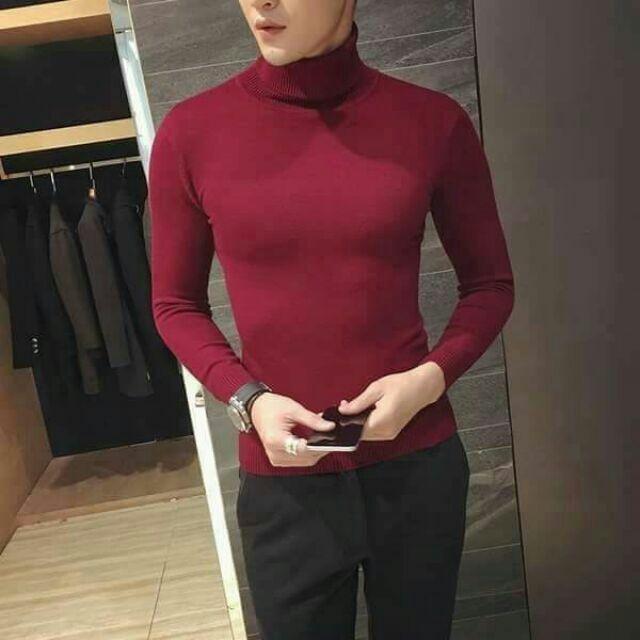 Áo len nam cổ lọ thời trang hàn quốc - Áo len phong cách Hàn Quốc