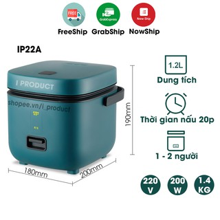 Nồi cơm điện I Product nhỏ gọn 1.2l phù hợp cho 1 đến 2 người ăn
