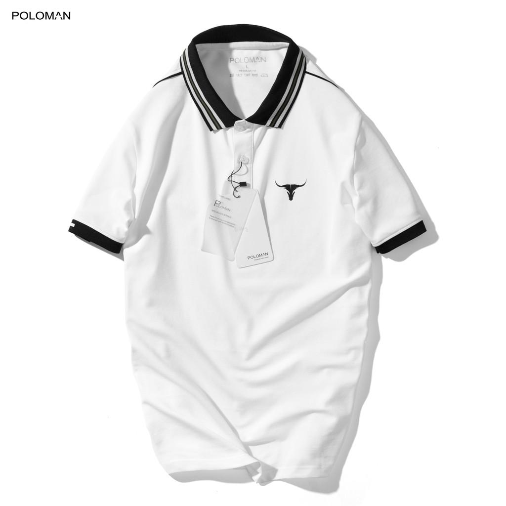 Áo thun Polo nam BUFO in họa tiết vải Cotton cá sấu,xuất xịn chuẩn form, sang trọng,thanh lịch -POLOMAN.