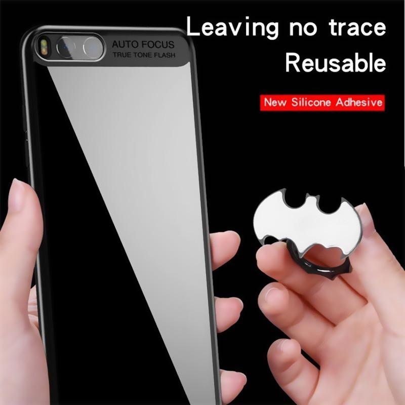 Nhẫn đỡ điện thoại xỏ ngón hình Người dơi bằng hợp kim nhôm sang trọng cho ốp điện thoại iPhone 8 7 6 Plus 11 Pro