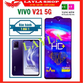 CAO CẤP Kính Cường Lực Vivo V21 5G - Phủ Nano HD+ và trong suốt - Độ cứng 9H - Độ trong suốt cực cao. thumbnail