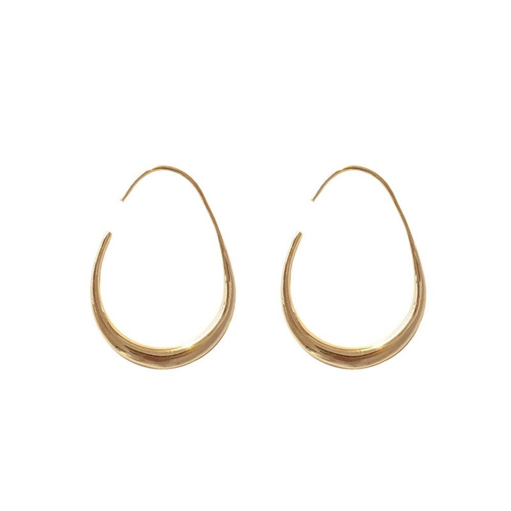 Bông tai mạ vàng dạng tròn đơn giản
