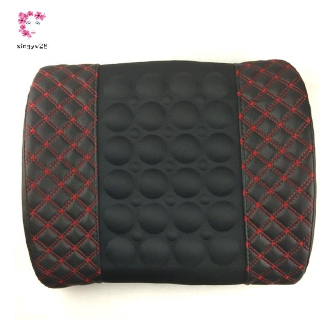 12V Electric Car Massage Lumbar Pillow Car Seat Back Relaxation Waist Support Cushion