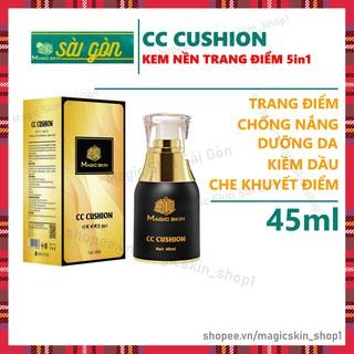 Kem Nền trang điểm, chống nắng CC Cushion Magic Skin Whitening Perfect 5in1 45ml ( MỚI ) thumbnail