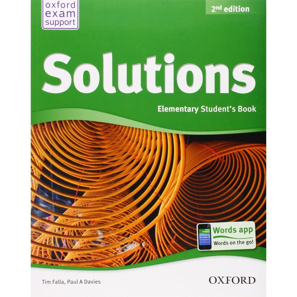 Bộ Sách Solutions Elementary (Phiên bản 2nd edition) (Trọn bộ 2 cuốn) (Kèm CD) - Tác giả: PAUL A. D
