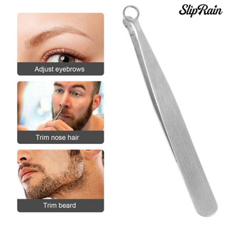 Sliprain ♥Nose Hair Tweezers 360 Degree Round Head Anti-Corrosion Solid Nose Hair Removal Tip