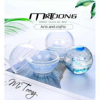 Khuôn silicon tạo quả cầu pha lê 20/40/60/80/100mm