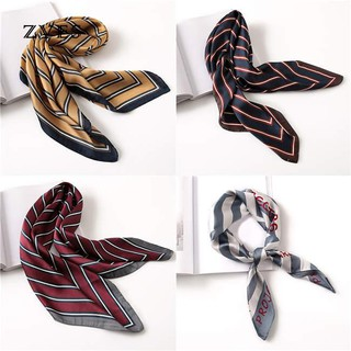 Zves Women Stripe Handkerchief Silk Gift