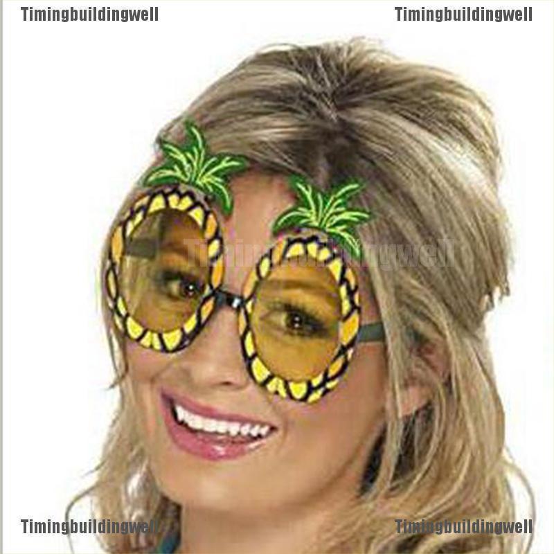Tbvn Hawaiian Beach Pineapple Sunglasses Party Fruit Glasses Dancing Supplies Hen Nig Fantasy