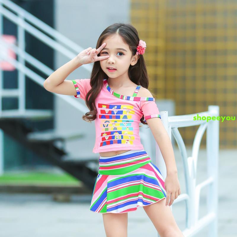 Đồ bơi cho trẻ em gái Váy chia bé gái Đồ bơi cho bé gái Hàn