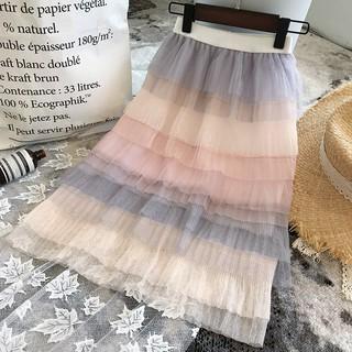 Chân váy dài lưng cao duyên dáng dành cho bé gái 3-7 tuổi