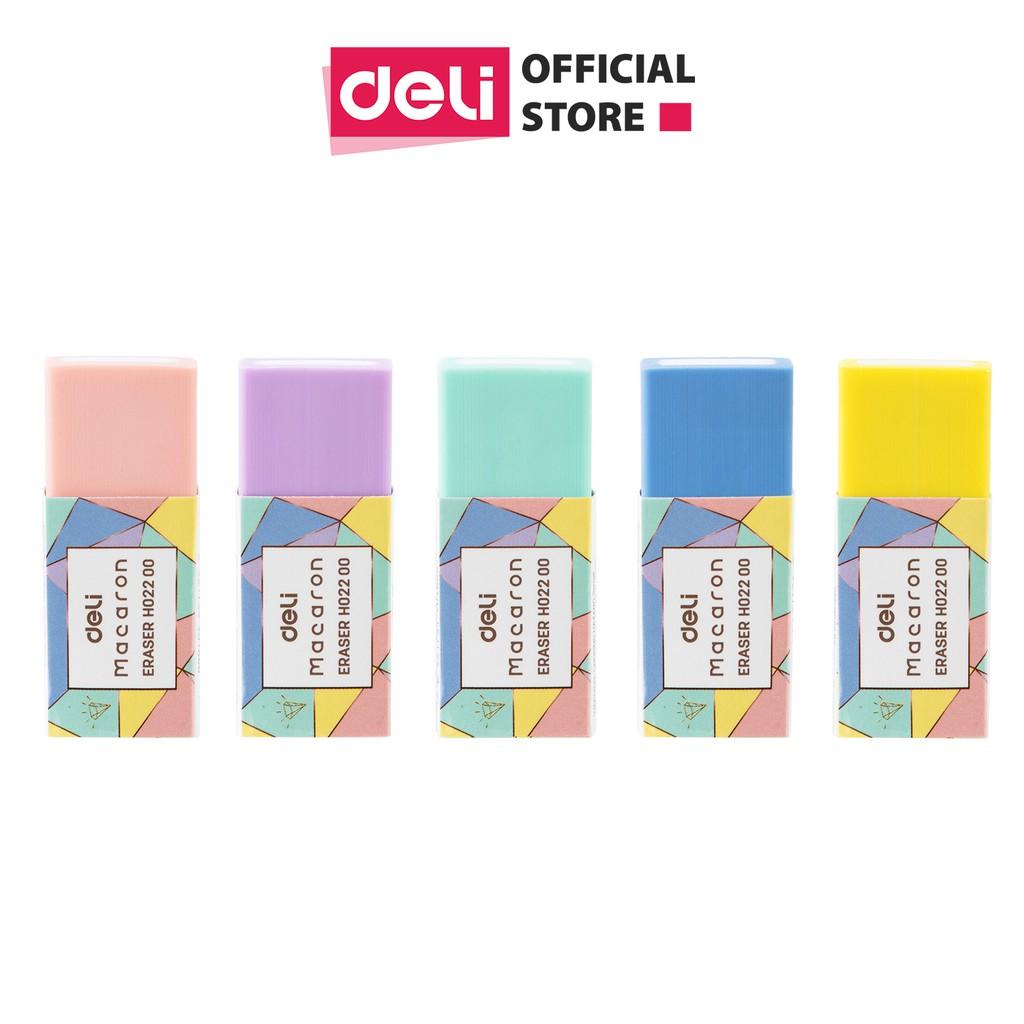 Gôm Tẩy Deli - Macaron - Combo 2 chiếc màu ngẫu nhiên - EH02200