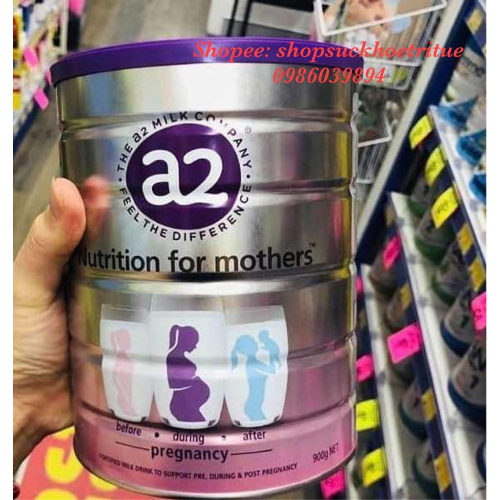 Sữa A2 bầu Úc 900g - A2 Nutrition for Mothers - Pregnancy cho phụ nữ mang thai