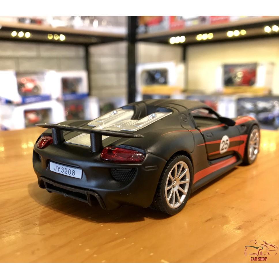 Mô hình xe ô tô Porsche 918 Martini tỉ lệ 1:32 màu đen