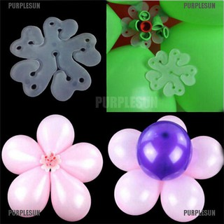 PURPLESUN 10pcs 6 in 1 Seal Clip Ballons Accessories Plum Flower Clip Sealing Clamp