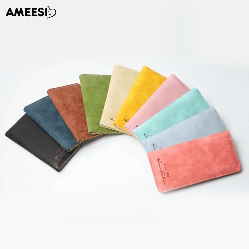 👜👝AMEESI Women Purse Slim Wallet Card Holder Bag Matte Wallet